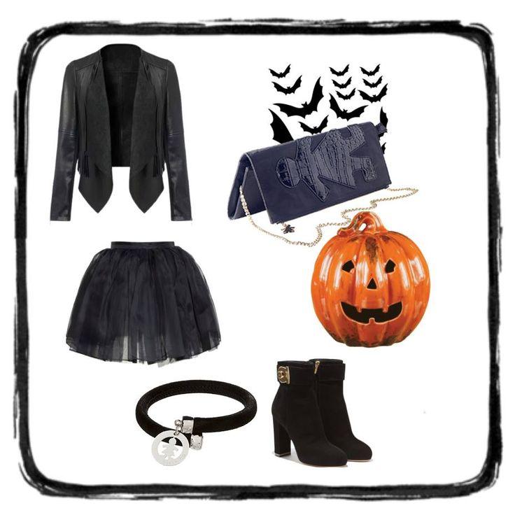 Il look per #halloween? Ve lo suggeriamo noi!! Total black, una zucca sotto braccio e il bracciale #flex con la #clutch nera! #birikinidonna #sonobirikina