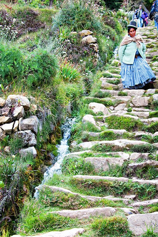 Oh my ... she has a million tales written on her face. Inca Staircase  Isla del Sol, Lake Titicaca, Bolivia