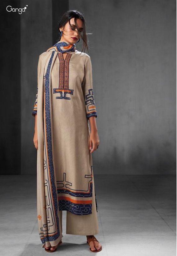 a5a3f518c7 Ganga Presents Whispering wind wool Pashmina Salwar Suits 6541 ...