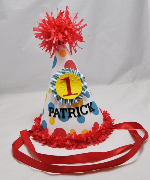 Hey, I found this really awesome Etsy listing at https://www.etsy.com/listing/126810947/circus-1st-birthday-party-hat