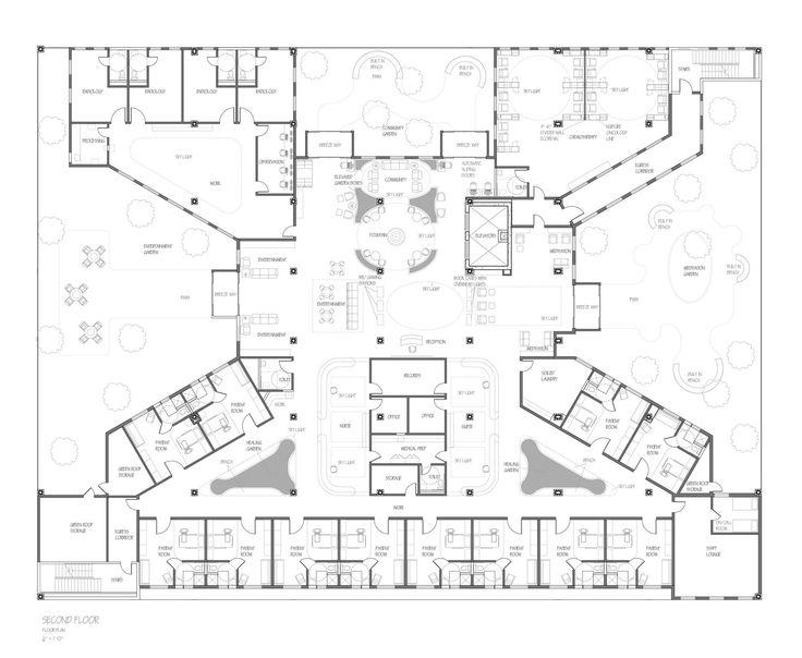 Floor plan second floor cancer center pinterest for Copying house plans