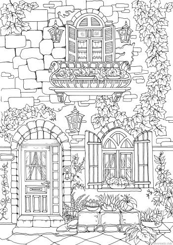 Fancy Exterior Coloring Pages Coloring Pages Adult Coloring