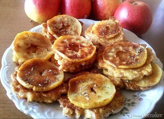 Racuchy owsiane z jabłkami.