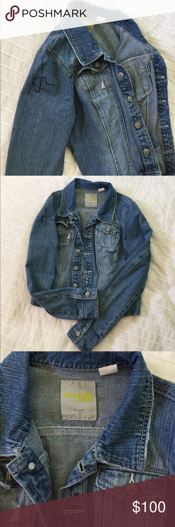 Jean jacket signed by Brad Hargreaves Signed by Drummer for Third Eye Blind at concert a few years ago. Charlotte Russe jean jacket. Only worn once for the concert & hasn't been worn since. Increased price bc of the autograph. Make me an offer if you're a Third Eye Blind fan! 🙂 Charlotte Russe Jackets & Coats Jean Jackets