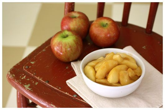 Sauteed Apples Side Dish (making with my Hashbrown-Pork Chop Cass)