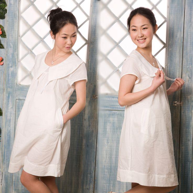 Ropa de maternidad La primavera y el verano de algodón de gran solapa de tela de maternidad finas vestido de una pieza-inDresses de Ropa y accesorios en Aliexpress.com | Grupo Alibaba