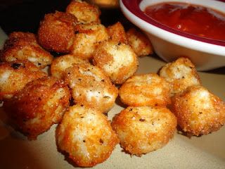 Baked cheese balls - So Quick & EZ!  Cut up string cheese, dip in skim milk, then Italian bread crumbs.  Bake at 425 for 7-10 minutes.  Yummy Dipped in Marinara Sauce!!!
