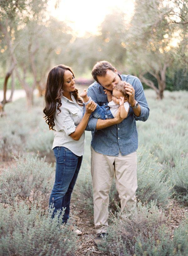 Tamera Mowry and Adam Housley Family Portrait