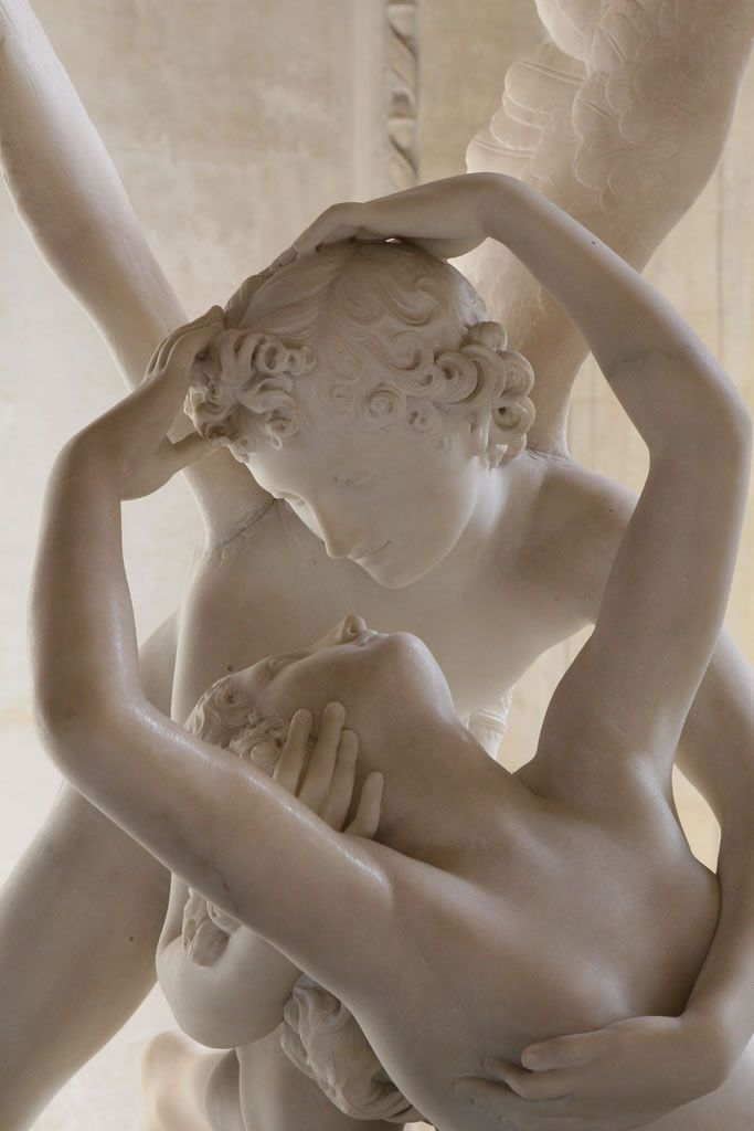 Cupid and Psych's Kiss, closeup - Antonio Canova