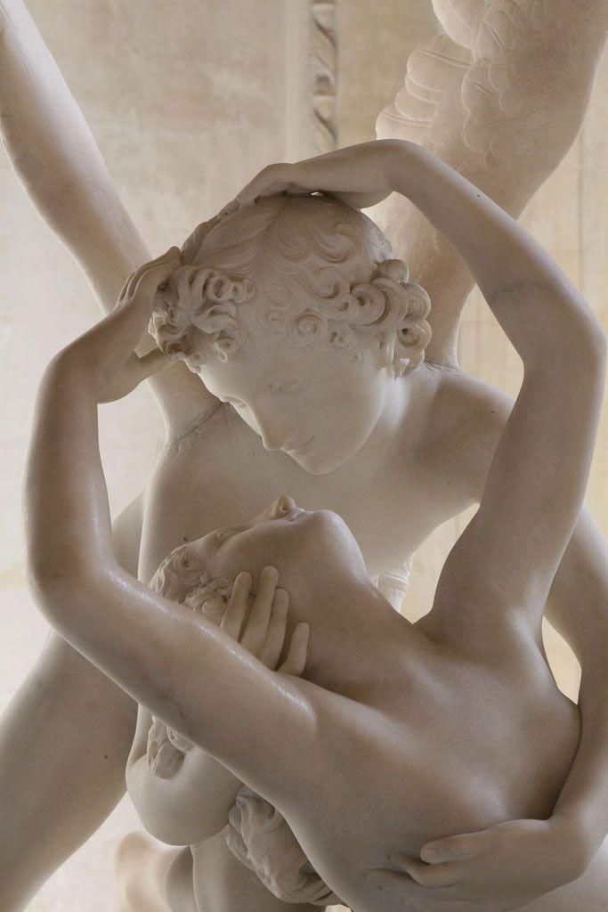 Cupid and Psych's Kiss, closeup - Antonio Canova