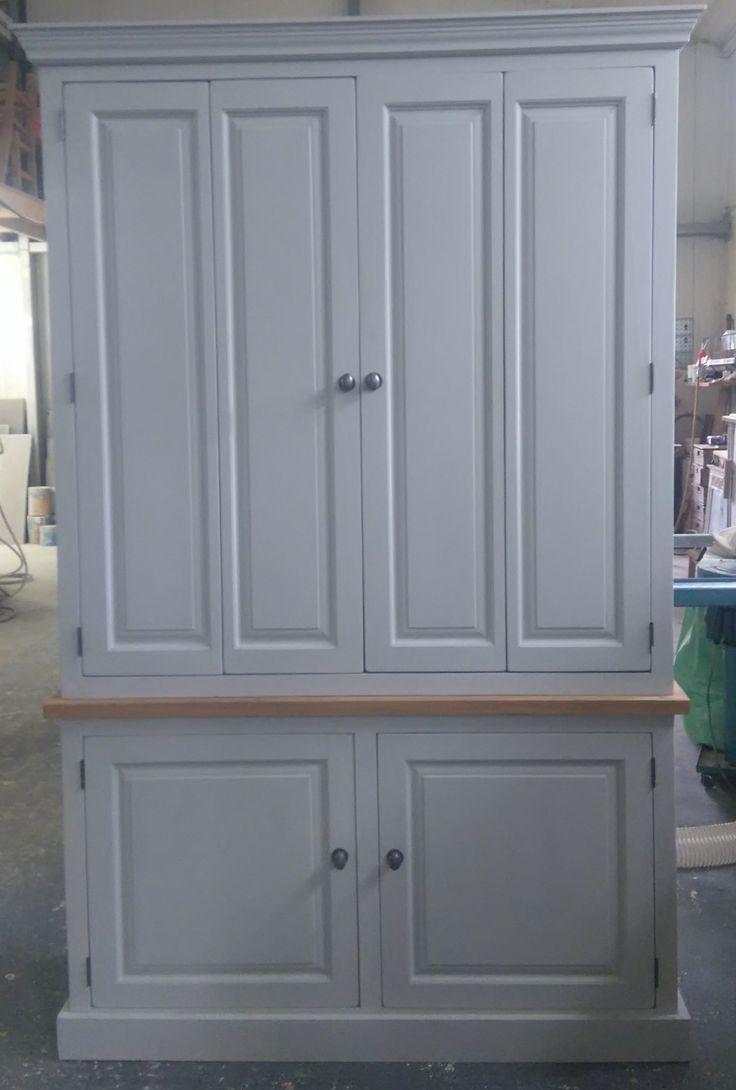 Cabinet maker bespoke pine furniture oak furniture bespoke - Reclaimed Pine Bespoke Office Unit Painted In Farrow Ball Pavillion Grey Oak Trimrecycled Furniturefarrow