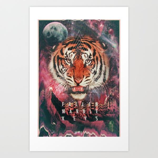 MYSTIC//TIGER Art Print by FMK 7 | Society6