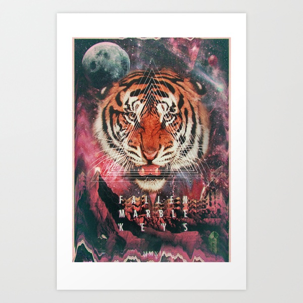 MYSTIC//TIGER Art Print by FMK 7 | Society6
