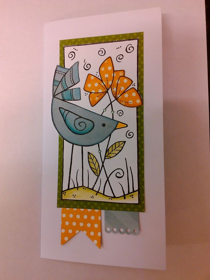 Crafts U Love: Create & Take: Special Bird - using the new Woodware stamps.
