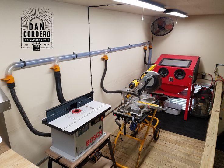 Shop Vac Dust Collection System Garage Workshop Shop