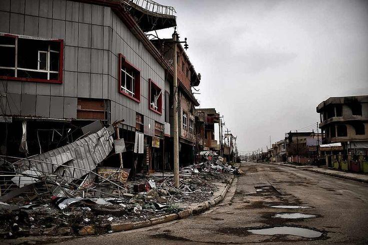 Pasca Ditinggalkan ISIS Kota Qaraqosh Berubah Jadi Kota Hantu