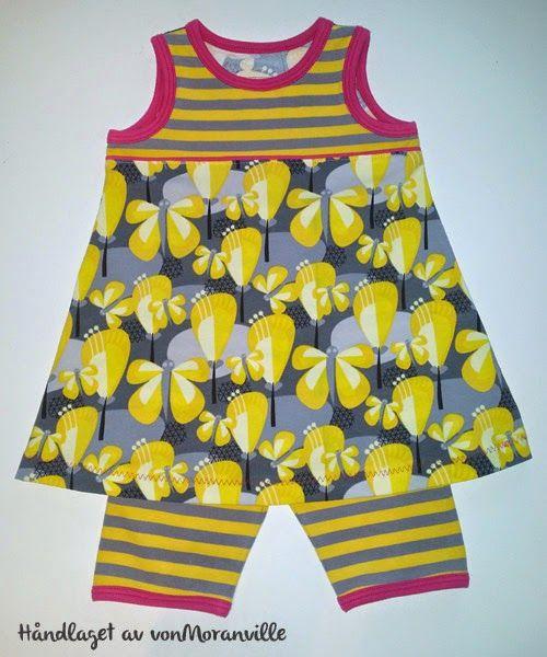 Sommerlig kjole og kort bukse. Lillestoff. / Dress and short trousers for summer. Lillestoff.