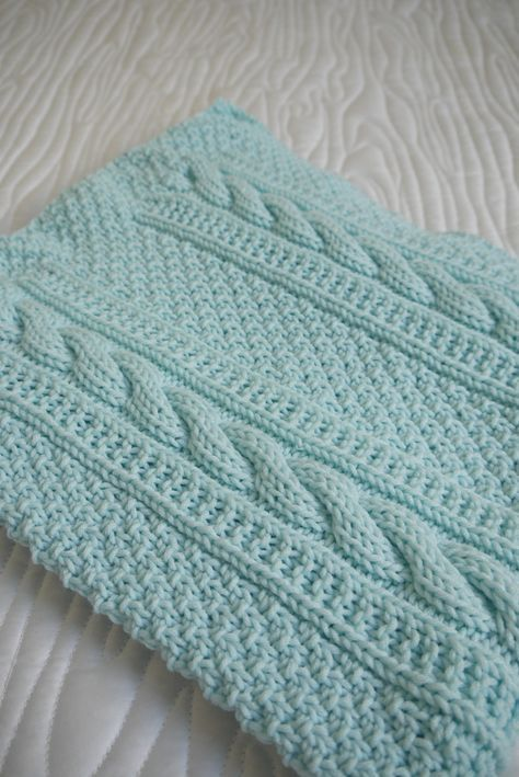 "I wanted to share a quick look at my latest knitting project – a blanket for my sister and brother-in-law's ""expecting"" friends. This was a project with a deadline and did …"