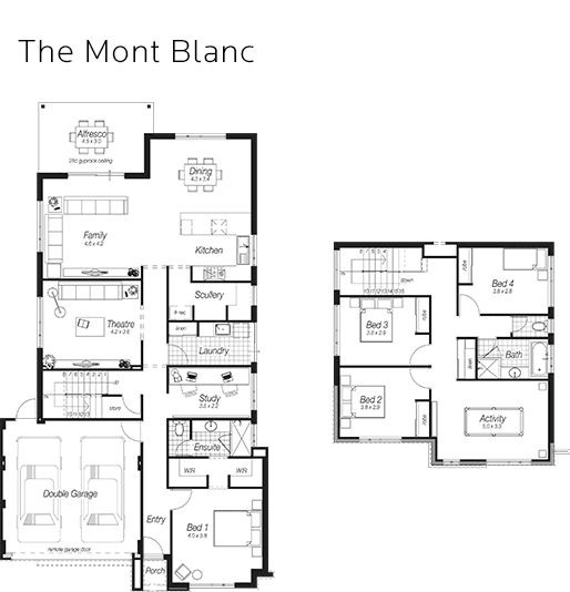 The 25 best two storey house plans ideas on pinterest for Ross north home designs
