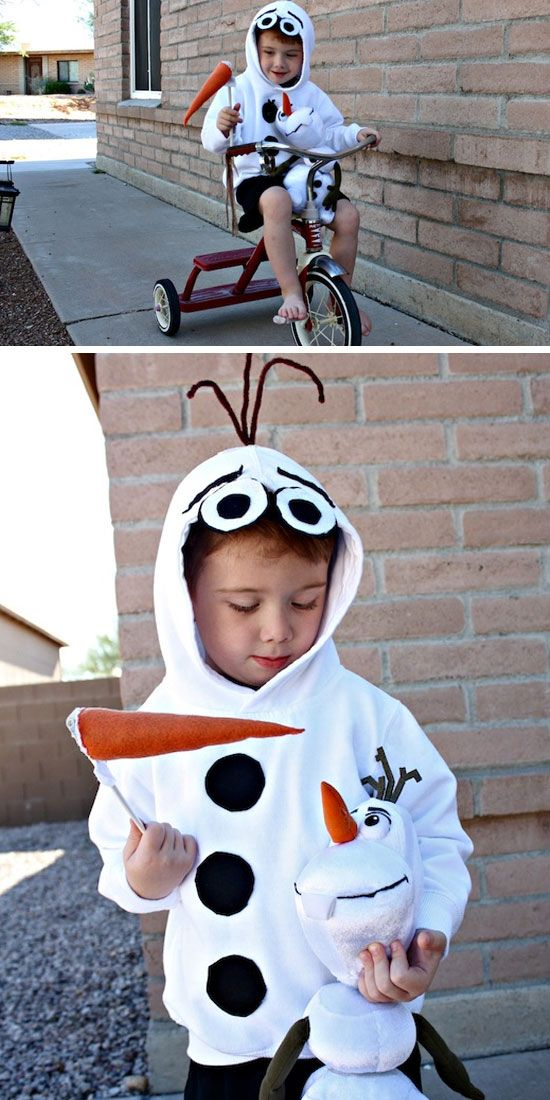 Olaf Snowman Costume | Click for 30 DIY Halloween Costumes for Kids to Make | DIY Halloween Costumes for Toddlers