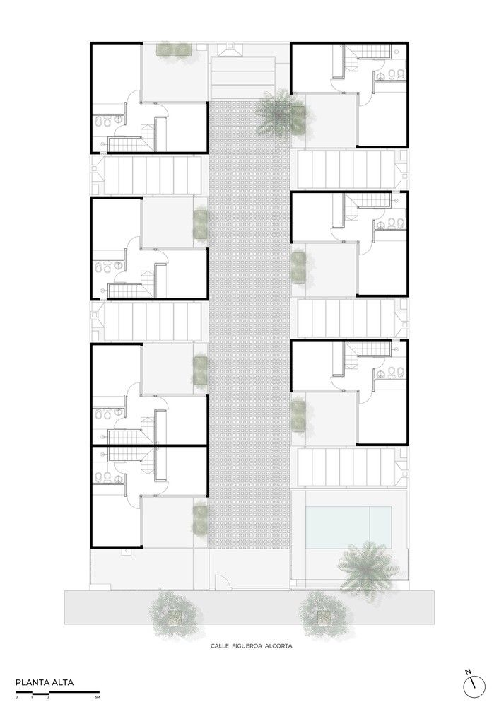 Gallery Of Azaleas Housing Complex Estudiolz 35 L Shaped House Layout Architecture Brick Apartments