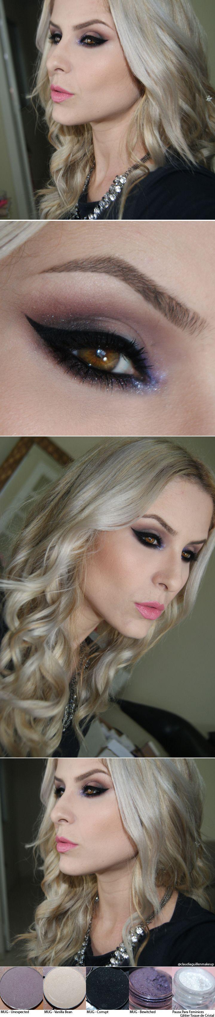 Make Bewitched com sombras e pigmento Make up Geek http://instagram.com/claudiaguillenmakeup http://claudiaguillen.inbloodesign.com/