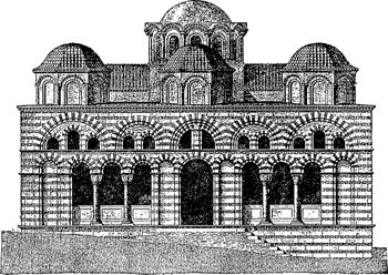 The following architecture of the Byzantine or Eastern Roman Empire was developed around. The Early Christian and late Roman antecedents in the 4th cent., flourished principally in Greece, but spread widely and lasted throughout the Middle Ages until the fall of Constantinople to the Turks (1453).