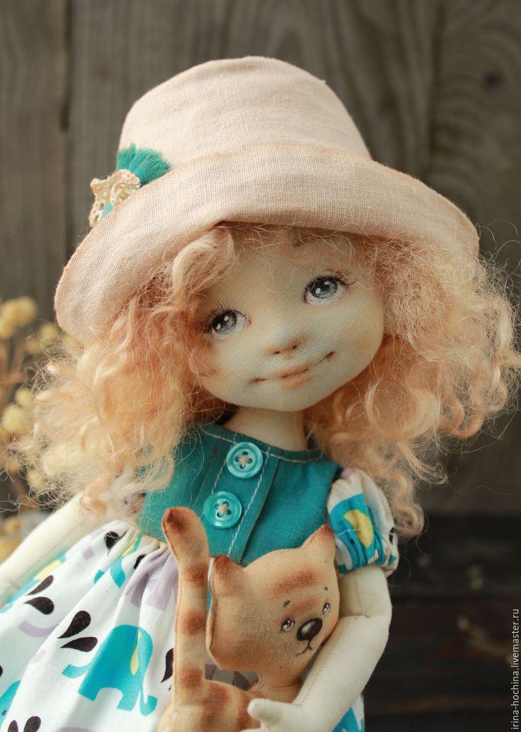 Купить Текстильная авторская кукла Лиза - морская волна, кукла, кукла ручной работы