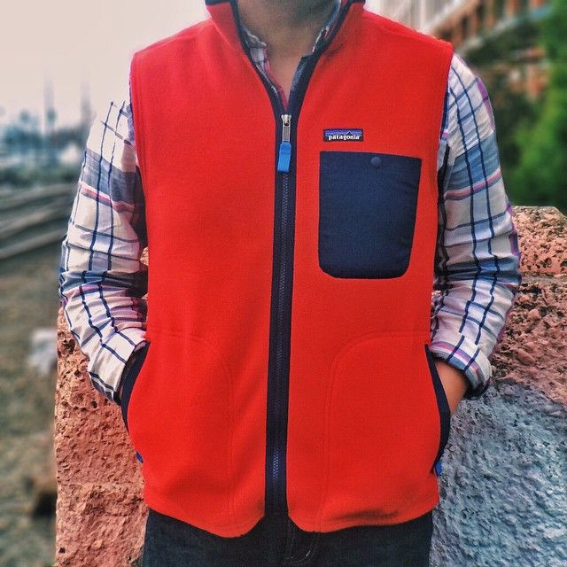 """""""A pop of color on a gray Monday // Shirt: Gant Rugger + Vest: Patagonia + Jeans: Omnigod"""" Photo taken by @jeffdepano on Instagram, pinned via the InstaPin iOS App! http://www.instapinapp.com (02/09/2015)"""