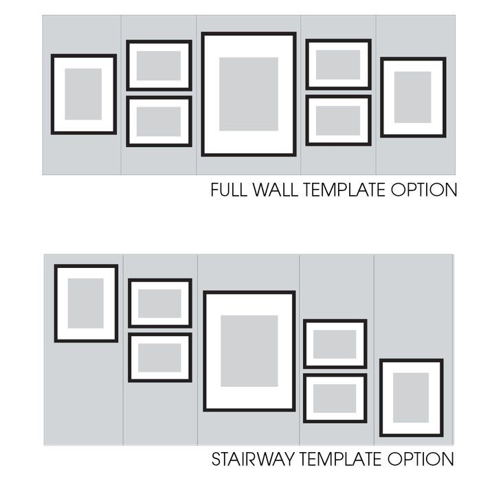 7 Piece Drexil Wood Matted Picture Frame Set Frames On Wall Picture Frame Wall Picture Gallery Wall