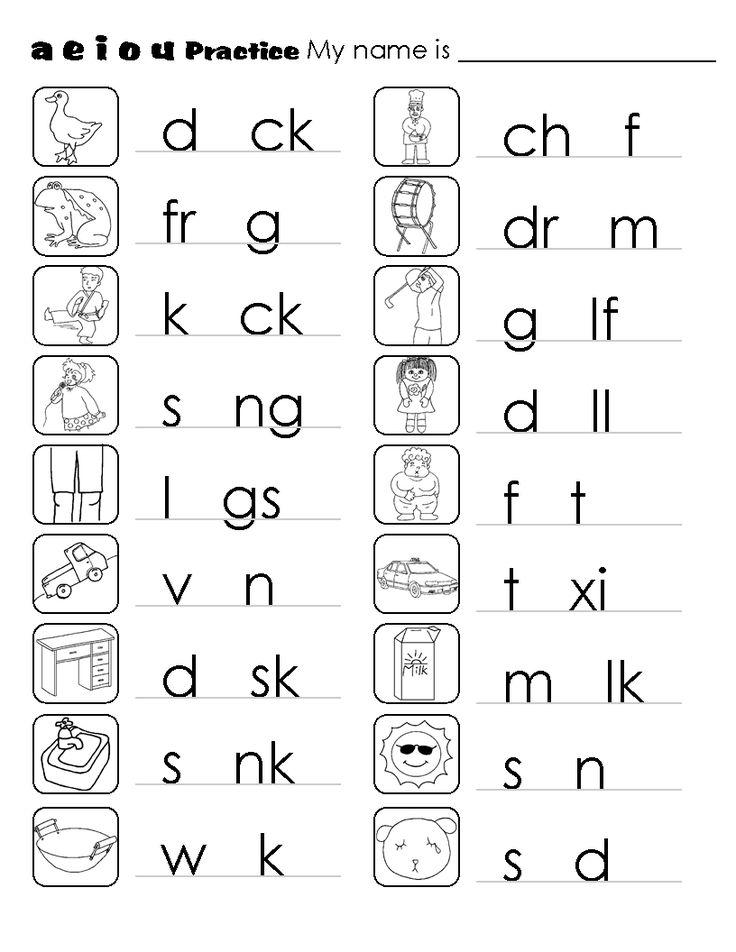 c6f296d24f815897fd7bccf75a1bc9fa  cvc phonics - Kindergarten Worksheets Pdf