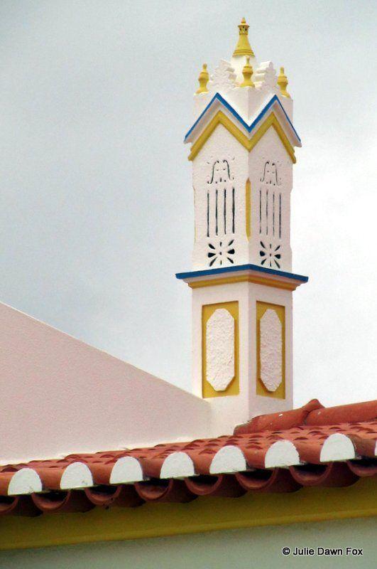 Algarvian chimney, Sagres, Portugal