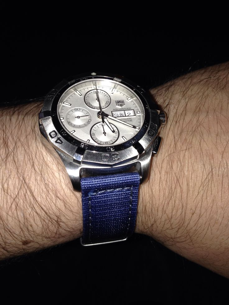 Tag heuer aquaracer with blue nylon NATO strap | Watches ...