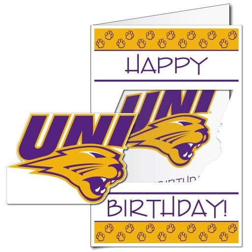 63 best giant birthday cards images on pinterest envelopes funny university of northern iowa 2x3 giant birthday greeting card plus yard sign m4hsunfo Gallery