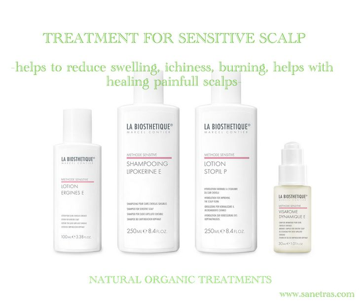 Absolutely amazing truly working treatments for those with very sensitive scalps! http://www.sanetras.com/product-category/treatments/sensitive-hair-and-scalp/