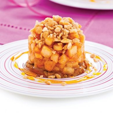 Croustillants de pomme aux pépites de sucre d'érable - Desserts - Recettes 5-15 - Recettes express 5/15 - Pratico Pratiques