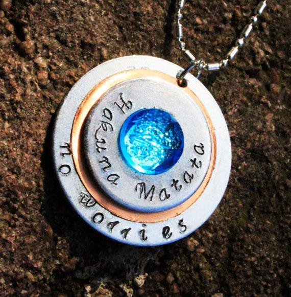Hakuna Matata Necklace Disney Jewelry Lion King by