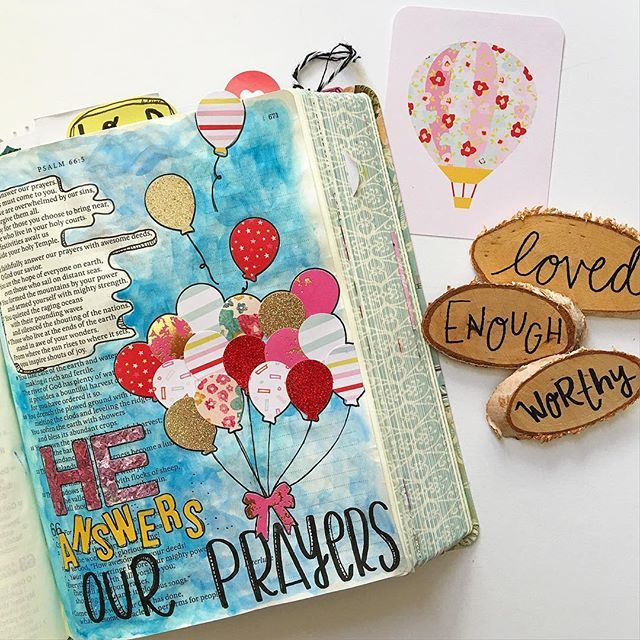 Bible Journaling by Amber Bolton @biblejournaling | Psalm 65