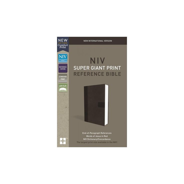 Holy Bible : New International Version, Super Giant Print Reference Bible, Gray, Red Letter Edition,