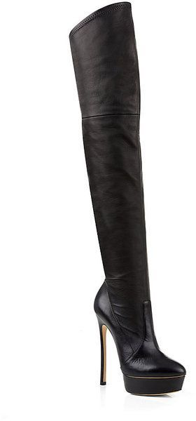 8c58c5c4478 Casadei Otk Leather Boot in Black