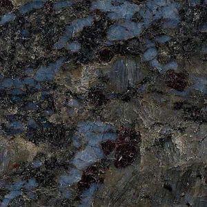dark blue countertops | Butterfly Blue granite from