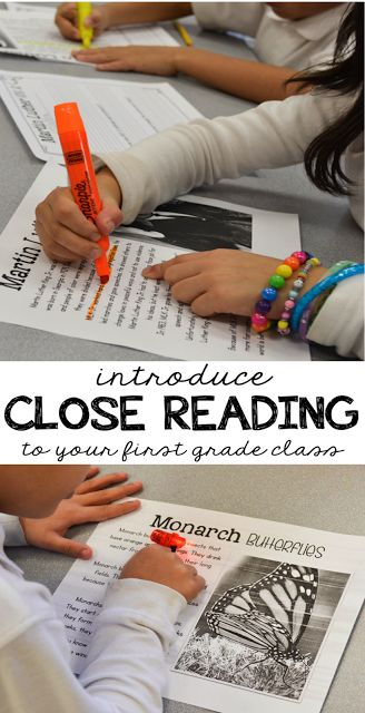 Close Reading in 1st Grade & A Freebie - Thank God It's First Grade!