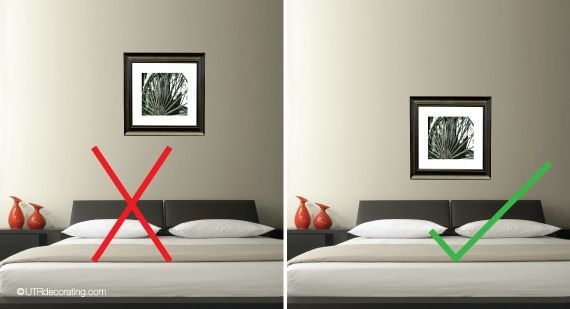 212 best images about picture hanging tips on pinterest - Over the bed art ...