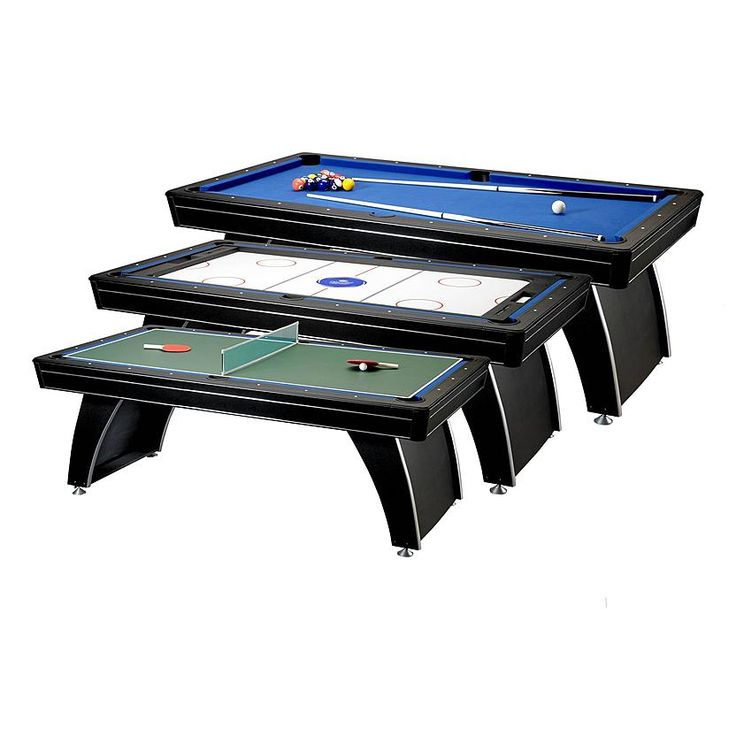 Phoenix MMXI Billiard Table Features:   MDF Play Surface Covered By Blue  Polyester Cloth   Drop Pockets And Rubber Bumpers   Panel Style Legs With  Leg ...