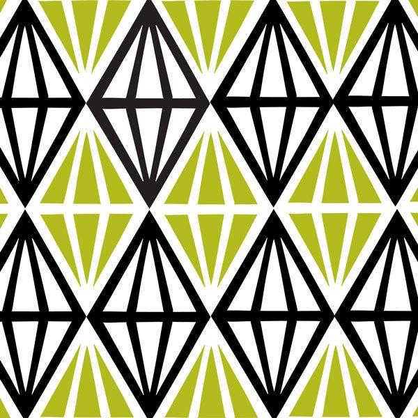 Diamonds Grön Tyg