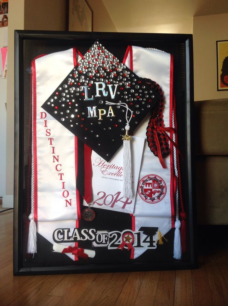 Graduation shadow box i like the glitter hat