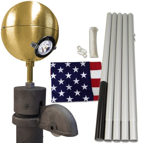 Residential Beacon Economy Package #FlagCo #FlagpoleBeacon #FlagpoleLighting