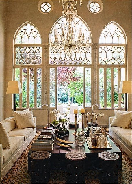 Lovely Chapel Style Windows For The Living Room