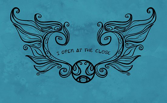 I open at the Close....Black version by Karen  Hallion