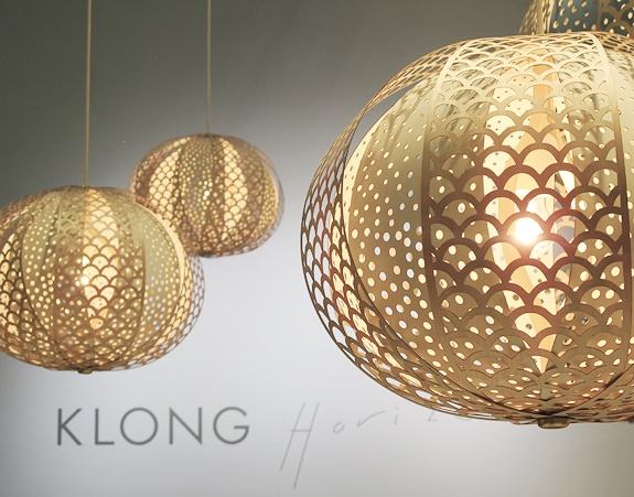 Klong wood lamp
